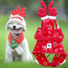 Warm Dog Scarf Winter Christmas Cloak for Little Small Medium Puppy Tie Cat Hat