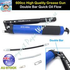 Heavy Duty Professional 600cc Grease Gun 10000psi Flex Hose Double Oil Flow Rate
