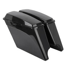 Unpainted Hard Saddle bags Saddlebags + Lids for Harley Road King Street Glide