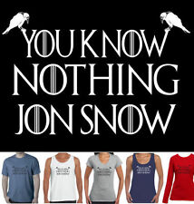Graphic Tee Game of Thrones Solid T-Shirts for Men