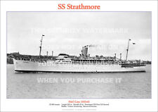 SS STRATHMORE P&O LINE SHIP A3 POSTER PRINT PICTURE IMAGE PHOTO