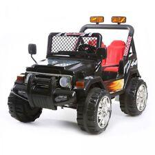 Auto Elettrica Jeep Safari 12V per Bambini 2 Posti  Con telecomando Nera