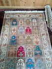 vintage Turkish hereka silk carpet  180 cm *120 cm  سجادة حرير هركة فاخرة