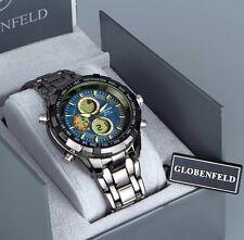 Reloj de Pulsera diseñador de plata azul globenfeld Digital Deporte Hombre Venta Srp £ 440
