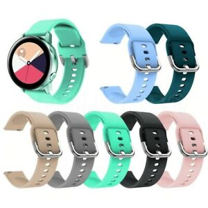 For Samsung Galaxy Watch Active Silicone Fitness Replacement Wrist Band Strap