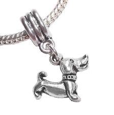 Dachshund Dog Pet Animal Puppy Dangle Bead fi 00006000 ts Silver European Charm Bracelets