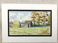 Original Aquarell Malerei Frenchay Becks Pool Gloucestershire Landschaft