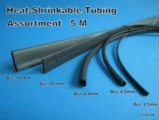 Black 2:1 Heat Shrink Tubing #AUgtc Assortment Dia: 2.5mm -14mm x 5M / lot