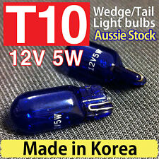 T10 Blue Xenon W5W White Bulbs Globes W5W Tail Wedge Lamp Parker Lights Parking