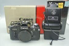 Canon AE-1 35mm SLR Camera Black Body With Orginal Box + Vivitar 283 Flash +