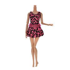 "1 Pcs Rose Leopard Vest Dress for 11""s Doll  New Beauty LC"