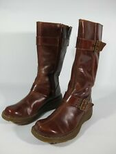 Dr Martens Milly Boots Women's Size 7 L Brown Zipper