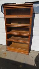 Antique Globe-Wernicke Oak Stacking Bookcase 5 sections plus top and base
