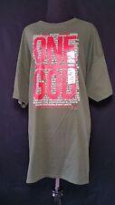 Inspirational Christian Unisex Shirt Tee T graphic  'ONE GOD' Plus Sz 2X SS