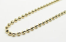 "14K Solid Yellow Gold Moon Cut Chain 24"" 4mm wide 28.7 Grams *Solid*"
