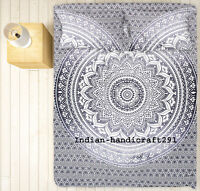 Queen Size Bedspread Indian Mandala Tapestry Bedding Set Throw With Pillow Cover