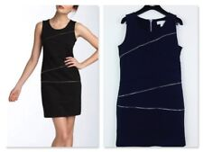 ~GLAMOUR DOLL~ MICHAEL KORS NAVY PONTE KNIT SLEEVELESS ZIPPER SHEATH DRESS 6