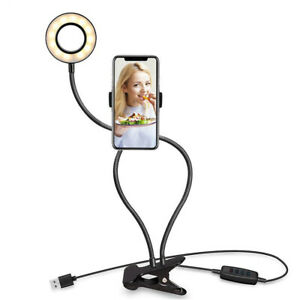 Selfie Ring Light with Phone Holder Stand for LiveStream Makeup iPhone