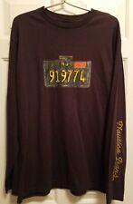 Men's NAUTICA Long Sleeve Shirt ~ Brown ~ License Plate ~ Size L ~ NWT