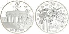 Frankreich 10 Euro 2009  20 Jahre Fall der Berliner Mauer   PP in Kapsel