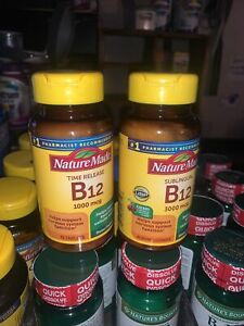 lot of 2 Nature Made timed release Vitamin B12 1000 Mcg. 75 Count sealed