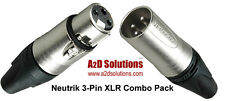 Neutrik XLR 3-Pin Combo Pack - 12 Male / 12 Female Connectors