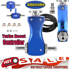 Blue Aluminum Metal Boost Tee Manual Turbo Boost Controller Control Valve Kit GD