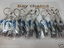 Lot of 12 Nail Clippers and Bottle Opener Key Chains / Free Shipping