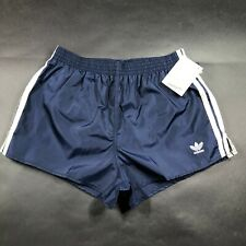 Vintage Adidas Trefoil Mens L Blue Running Shorts Lightweight Nylon Striped NWT