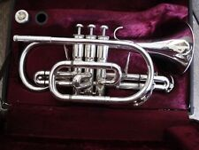 Besson Sovereign 928 cornet in silver plate