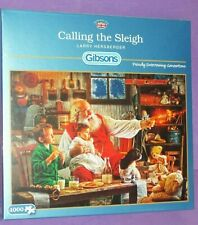 Gibsons Calling The Sleigh Christmas 1000 Jigsaw Puzzle Larry Hersberger SEALED