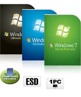 Windows 7 Ultimate / Professional / Home 32 oder 64 Bit OEM