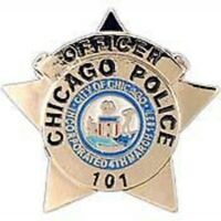 CHICAGO POLICE  OFFICER BADGE LAPEL PIN