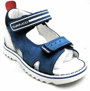 Balducci CSPO4451 Jeans Sandalo da Bambino Blu in Pelle