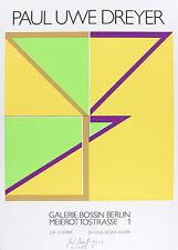 Paul Uwe Dreyer: Abstrakte Komposition, signiert, Galerie Bossin 1985