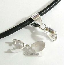 """STER SILVER PENDANT Connector Pinch In CLASP BAIL """"S"""""""