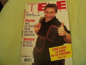 """TELE MAGAZINE N°1909 - 1992"" Jean-Pierre PAPIN, Bruno CREMER, Omar SHARIF"