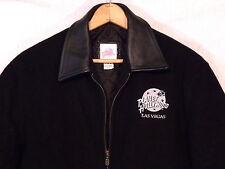 Planet Hollywood Las Vegas rare black wool & leather jacket / size SP / VGC /b34