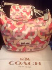 Coach Kristin Chain Link F22741 Pink Hobo Tote+Wristlet +Dust Cover EUC