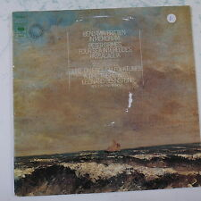 "12"" LP record BENJAMIN BRITTEN IN MEMORIAM bernstein / new york phil cbs 76640"