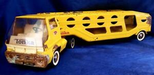 Tonka Car Carrier 1960's Model #2840 Vintage Played With Condition Restoration