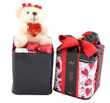 ZOROY Surprise Pop upTin with teddy and heart chocolates