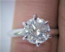 New 1.45 Carat Natural White Eye Clean Round Brilliant Diamond Solitaire Ring