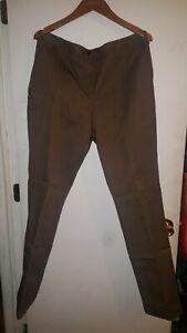 WearGuard UPS United Parcel Service Mens Uniform Pants Brown Flat Front Pant 12