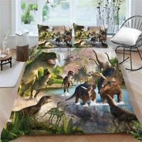 2021 Bed 3D Dinosaur Design 2/3 Bedding Set of Duvet Cover&Pillowcase