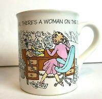 RELAX Working Woman on Job Coffee Cup Vintage 1986 Mug Mates Hallmark Office