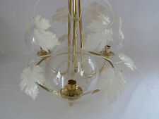 Three Arm Chandelier Ceiling Light with Clear Glass Globe Shades