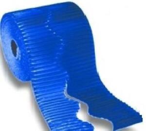 7.5m Métallique Bleu Ondulé Carte Bordette Classe Présentation Rouleau Par Pacon