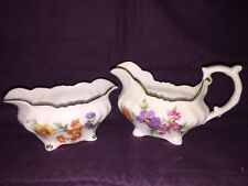 Hammersley &Co England Creamer and Sugar.-A193