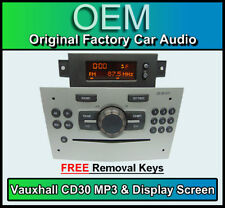 VAUXHALL Corsa CD30 Lettore MP3, OPEL CD RADIO STEREO & Display Schermo D'ARGENTO